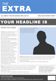 Extra Extra Newspaper Template Free Newspaper Template Docx 45kb 2 Page S