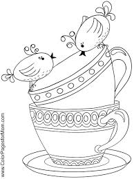 Small Picture 82 best Tea Coloring Art Print Pages Colouring for Adults images