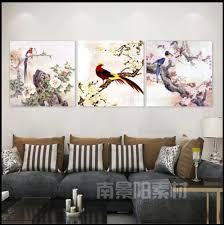Painting Dining Room Mesmerizing Realist Landscape Birds Anf Flowers Wall Painting For Dining Room