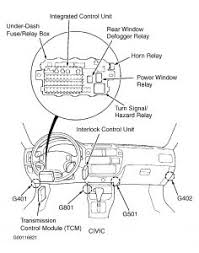honda civic horn relay electrical problem honda civic  horn relay civic behind left side of dash on bracket see fig 10