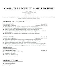 It Security Analyst Resume Sample Security Resume Sample Resume