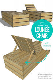 outdoor diy lounge chair with storage