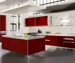 Red Floor Tiles Kitchen Elegant Red And White Nuance Modern Kitchen Tile Flooring That Has