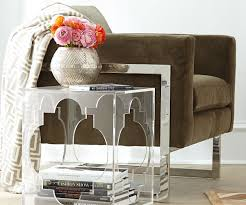 ... Large-size of Grande Quatrefoil Acrylic Side View Larger Quatrefoil  Acrylic Side Table in Acrylic ...