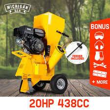 garden mulcher. NEW MICHIGAN Commercial Series Wood Chipper Garden Mulcher Shredder Mulch Chip R