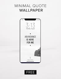 FREE Minimalism Quote Phone Background ...