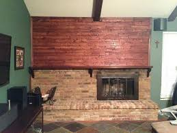 cover fireplace brick with drywall reface wood how your before after m l f