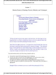 human resource planning process methods and techniques human resource planning process methods and techniques forecasting labour economics