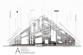 Abstrakt Bau Perspektive Architektur Design Linie Kunst Hintergrund