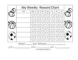 Gold Star Sticker Chart 44 Printable Reward Charts For Kids Pdf Excel Word