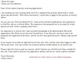 Cover Letter Clerical Galingpinoy Com