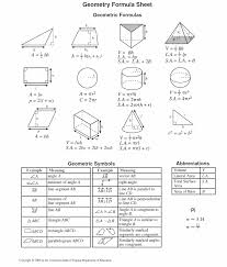Math Formula Chart For Geometry 58 Eye Catching 10th Math Formula Chart