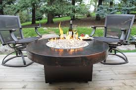 outdoor gas fire pit table and chairs