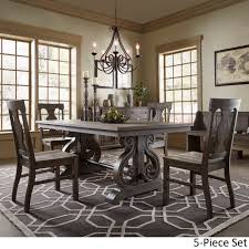 rowyn wood extending dining table set by inspire q artisan today overstock 14399187