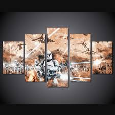 5 piece multi panel modern home decor framed star wars battle field star trek wall art on star wars canvas panel wall art with 5 piece multi panel modern home decor framed star wars battle field