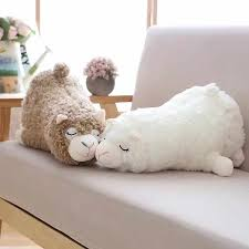 hot45cm Japanese <b>Alpacasso Plush Toys Stuffed</b> Lying Alpaca Toys ...