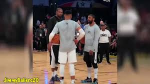 Russell Westbrook teaches Kyrie Irving how to DUNK OFF 1 FOOT - YouTube