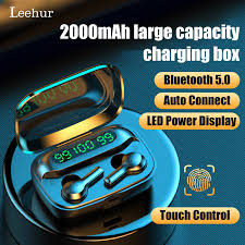 <b>Leehur Headphones</b> Bluetooth 5.0 <b>Earphones</b> Led Display ...