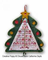 Christmas Tree Cross Stitch Chart Christmas Owls Tree Advent Calendar Cross Stitch Pattern By Chouettalors