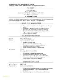 Resume Template For Medical Assistant Or Sample Cover Letter Medical