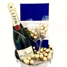 a deluxe toast of moet chocolates gift her