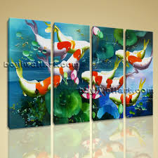koi fish painting wall art