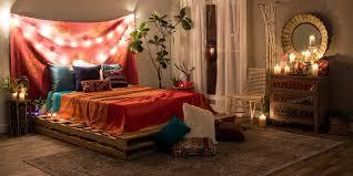 A boho chic bedroom