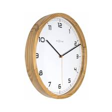 office wall clocks large. Wall Clock For Office - Company Light Wood Nextime Clocks Large 6