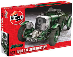 hobby kits 1 12 scale. Airfix 1930 4.5 Litre Bentley Plastic 1:12 Scale Model Car Kit - Available From Hobby Kits 1 12 Pinterest