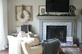 painted white brick fireplaceNew Year New Room ChallengeRewhitewashing the Brick Fireplace