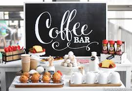 coffee bar. Coffee Bar Party: \