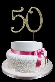 Large Gold 50 Th Birthday Wedding Anniversary Number Miss Quince