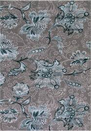 concord global trading thema 2955 jacobean teal gray area rug carpetmart com