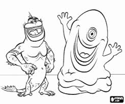 Monsters Vs Aliens Coloring Pages Printable Games