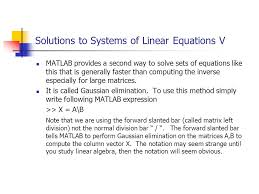 solutions to systems of linear equations v 17 special matrices matlab