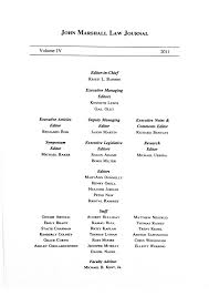 Atlantas John Marshall Law Journal Volume Iv By Atlantas