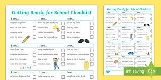 Checklist For School New My Starting School Checklist I Am Independent School