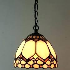 tiffany stained glass hanging light vintage