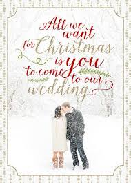 Christmas Wedding Save The Date Cards Holiday Photo Save The Date Card Say Merry Christmas And Save The