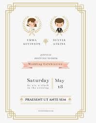 The Bride And Groom Wedding Invitation Vector Wedding