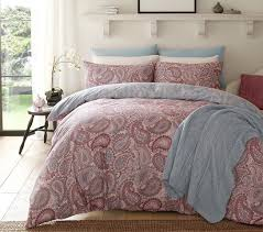 pieridae paisley purple duvet cover pillowcase set bedding digital print quilt case single double king bedding bedroom daybed all sizes double