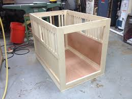 Milk- painted ash dog crate