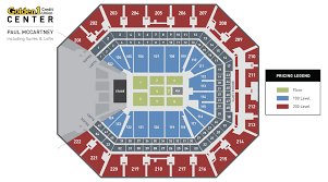 Seating Chart For Paul Mccartney Paul Mccartney Golden1center