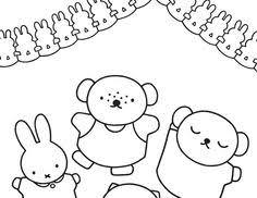 De 47 Beste Afbeelding Van Nijntje Miffy Coloring Pages En