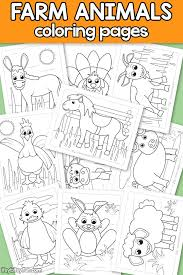 Farm Animals Coloring Pages For Kids Itsy Bitsy Fun