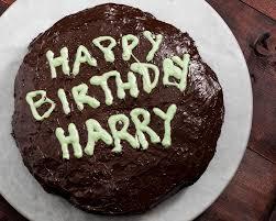 Happy Birthday Harry Pottervegan Gluten Free Chocolate Cake