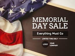 Easy To Edit Your Own Memorial Day Templates For Making Cards