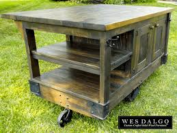 Rustic Kitchen Island Cart Kitchen Finest Rustic Kitchen Island With Regard To Distressed