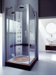 Bathroom:Awesome Elegant Cornered Shower Small Bathroom Design With Cream  Nice Wall Color Design Idea