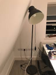 Ikea Hektar Floor Lamp Dark Grey
